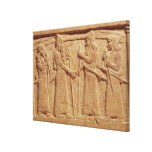 Relief depicting King Shalmaneser III Canvas Print