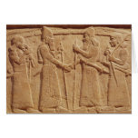 Relief depicting King Shalmaneser III Card