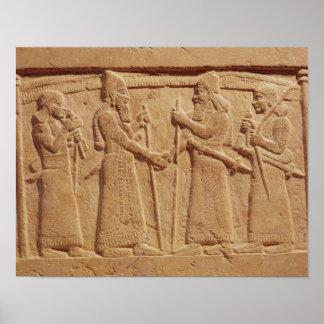 Relief depicting King Shalmaneser III Poster