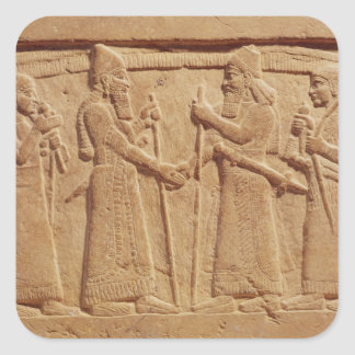Relief depicting King Shalmaneser III Square Sticker