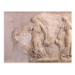 Relief depicting maenads dancing, from Tunisia Postcards
