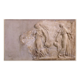 Relief depicting maenads dancing, from Tunisia Poster
