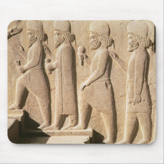 Relief depicting Median guards from stairs Mouse Pad