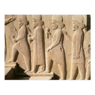 Relief depicting Median guards from stairs Postcard