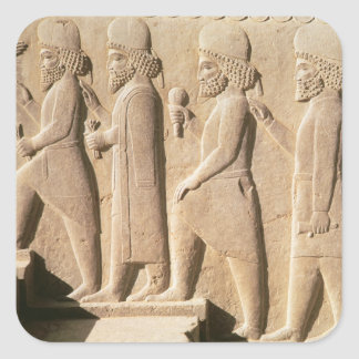 Relief depicting Median guards from stairs Square Sticker