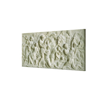 Relief depicting nereids carried away by tritons canvas print
