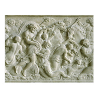 Relief depicting nereids carried away by tritons postcard