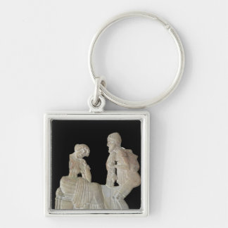 Relief depicting Odysseus and Penelope Keychain