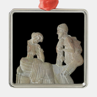 Relief depicting Odysseus and Penelope Christmas Tree Ornaments