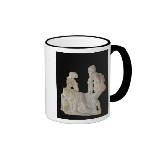 Relief depicting Odysseus and Penelope Ringer Mug
