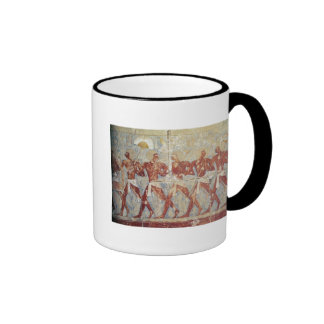 Relief depicting parade in honour of Hathor Ringer Coffee Mug