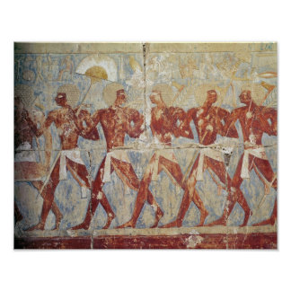 Relief depicting parade in honour of Hathor Poster