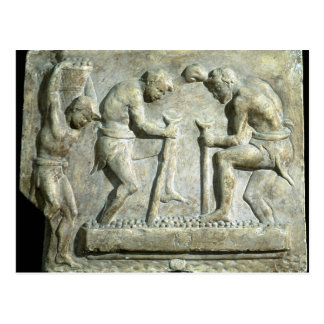 Relief depicting pavers postcard