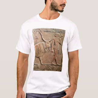 Relief depicting peasant leading cow to T-Shirt