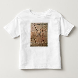 Relief depicting peasant leading cow to toddler t-shirt