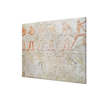 Relief depicting people carrying offerings of canvas print