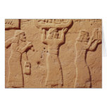 Relief depicting porters laden with gifts greeting card