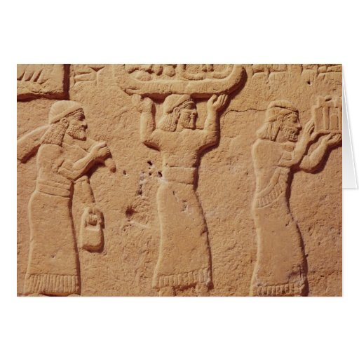 Relief depicting porters laden with gifts cards