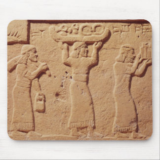 Relief depicting porters laden with gifts mouse pad