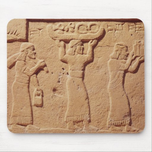 Relief depicting porters laden with gifts mousepads