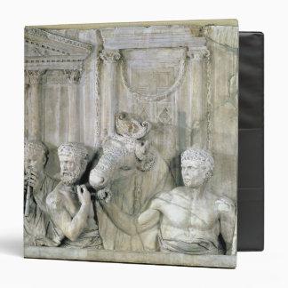 Relief depicting preparations for a sacrifice vinyl binder