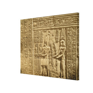 Relief depicting Ptolemy VIII Euergetes II Stretched Canvas Prints