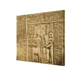 Relief depicting Ptolemy VIII Euergetes II Canvas Print