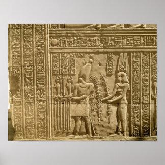 Relief depicting Ptolemy VIII Euergetes II Print