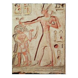 Relief depicting Ramesses II  smiting enemies Postcard