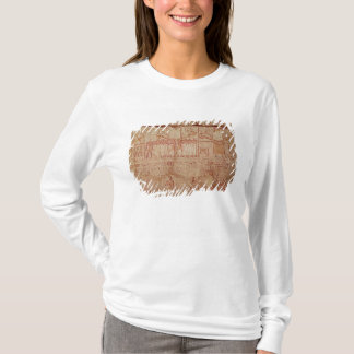 Relief depicting sacred boats carried by T-Shirt