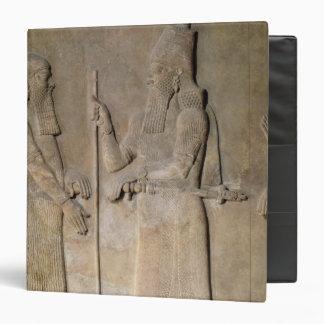 Relief depicting Sargon II  and a vizier Binder