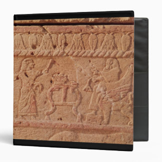 Relief depicting servant paying homage to the 3 ring binder