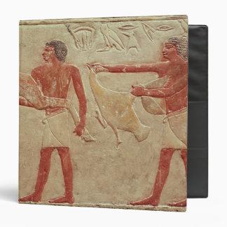 Relief depicting servants 3 ring binder