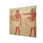 Relief depicting servants canvas print