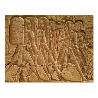 Relief depicting servants carrying rope postcard