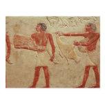 Relief depicting servants post cards