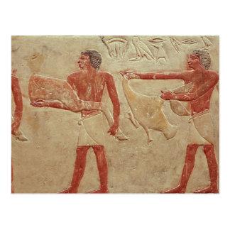 Relief depicting servants postcard