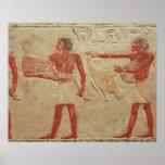 Relief depicting servants posters
