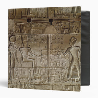 Relief depicting Seti I  making an offering 3 Ring Binder