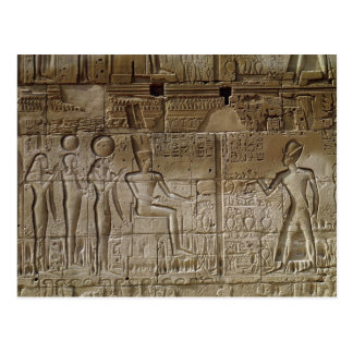 Relief depicting Seti I  making an offering Postcard