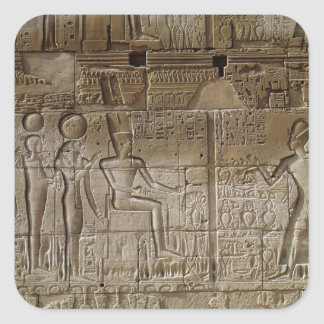 Relief depicting Seti I  making an offering Square Stickers