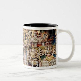 Relief depicting Shiva and Parvati riding Coffee Mug