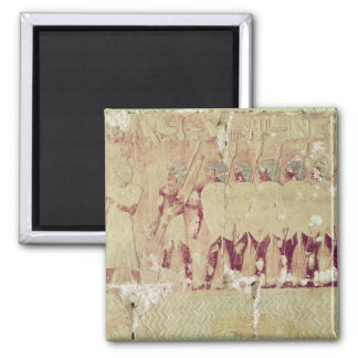 Relief depicting soldiers 2 inch square magnet