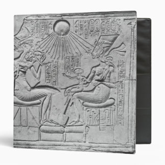 Relief depicting the Aten giving life 3 Ring Binder