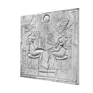 Relief depicting the Aten giving life Canvas Print