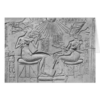Relief depicting the Aten giving life Card