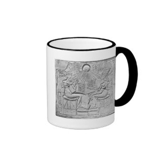 Relief depicting the Aten giving life Ringer Coffee Mug