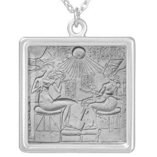 Relief depicting the Aten giving life Square Pendant Necklace
