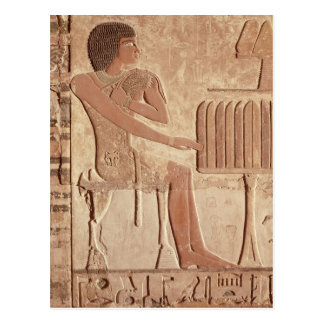 Relief depicting the deceased seated postcard