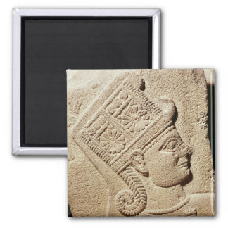 Relief depicting the head of a young prince magnet